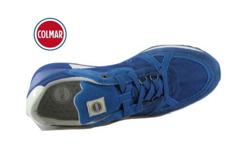 Scarpe da uomo COLMAR TRAVIS SUPREME casual ginnastica in tessuto sneakers blu
