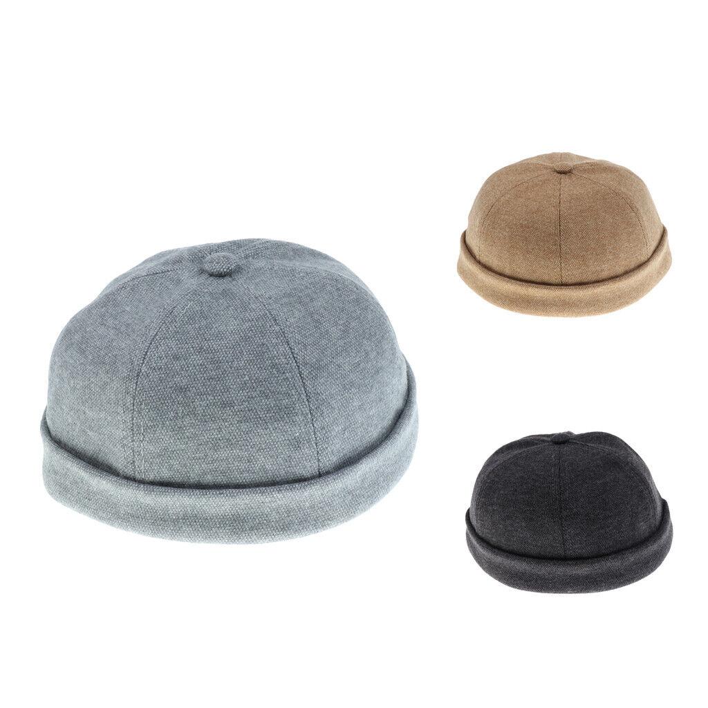 1pc Skullcap Sailor Hut Mütze Retro Men Fashion Brimless Docker Hut