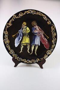 VINTAGE ITALIAN DECORATIVE WALL PLATE \'PATTI\' Hand Painted Signed | eBay