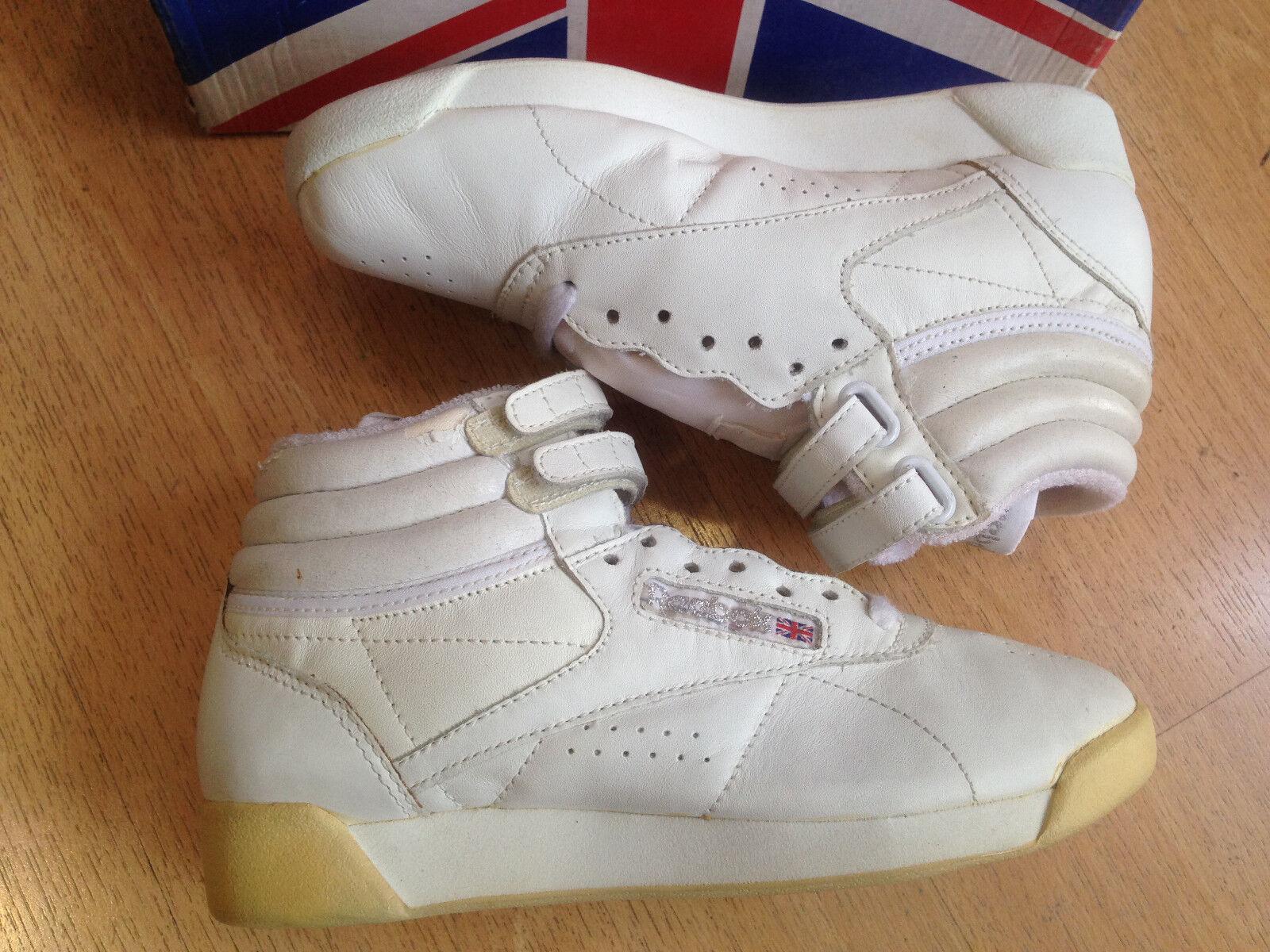 OG vintage 1998 Reebok Freestyle Hi vintage OG Turnschuhe Größe US6 EUR36 CM23 SUPER RARE eb0a2c