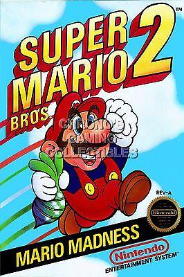 Rgc Huge Poster Super Mario Bros 2 Box Art Original Nintendo Nes Mar005 Ebay