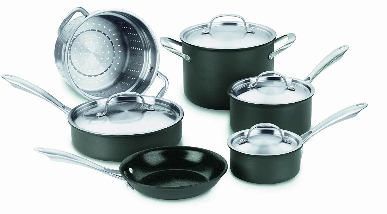 Cuisinart GG-10 vertGourmet dur-Anodisé - 10 Pièces Cookware Set