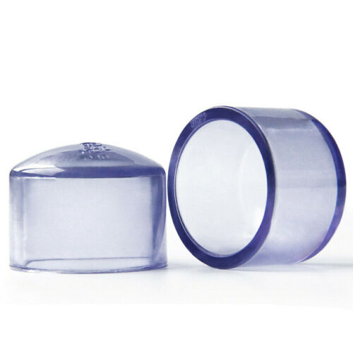 Clear UPVC Casing Cap Pipe End Cover Stopper Fittings 20//25//32//40//50//63//75//90 mm
