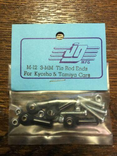 Vintage JG Mfg Part#M-12 3-MM Tie Rod Ends for Kyosho /& Tamiya Cars 1//10 RC Car