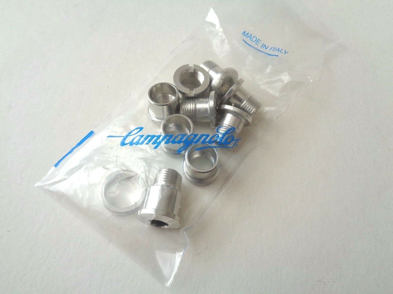 NOS Vintage Campagnolo Record hidden 5th arm aluminium chainring bolts set