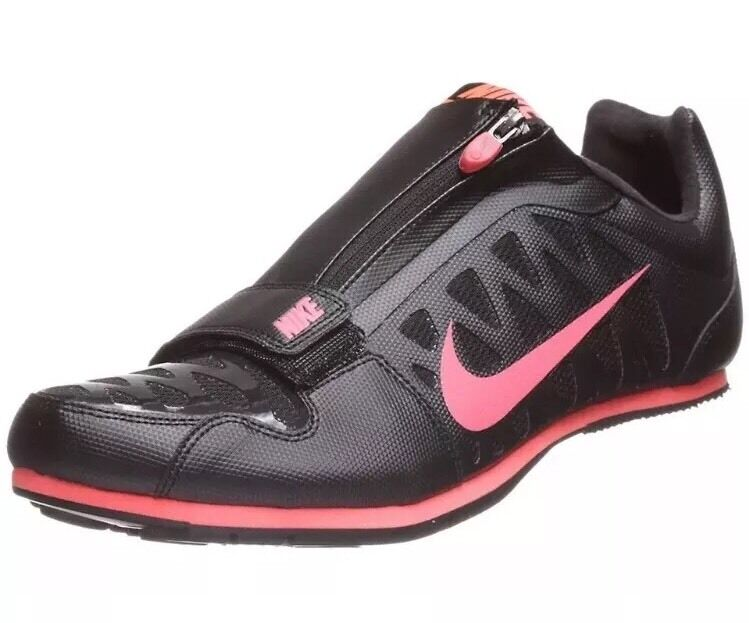Seasonal price cuts, discount benefits NEW Nike Zoom LJ 4 Long Jump Shoes Spikes Black Neon Red 415339-060 SIZE 14