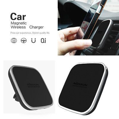 NILLKIN Wireless Charger Dock Car Holder Charging Pad Stand Magnetic Air Vent