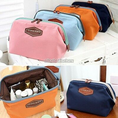 Women Travel Cosmetic Case Toiletry Makeup Bag Handbag Organizer Pouch Purse N98