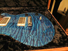 Prs Private Stock McCarty Brazilian Neck Aquamarine Quilt 14K Lapis Birds 2005