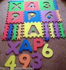 Foam Letter/Number Floor Mats Puzzle Spare Piece Lot