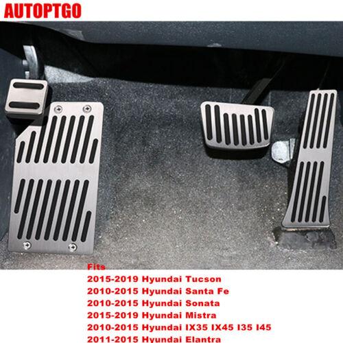 For Hyundai Tucson Santa Fe Sonata IX35 Foot Rest Gas//Brake Pedal Pad Cover Kit