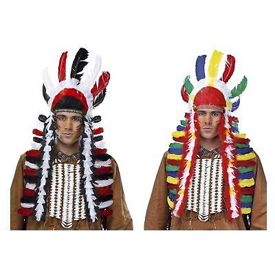 Native American Warrior Tonto Indian Costume Lone Ranger War Feather Bonnet