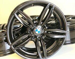 19 Inch 04 19 Bmw 351m M5 M6 Factory Oem Wheels Rims Gloss Black Staggered F12 Ebay