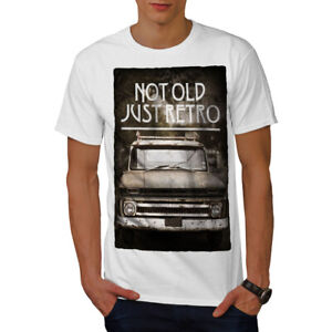 Wellcoda-Not-Old-Retro-Car-Mens-T-shirt-Retro-Graphic-Design-Printed-Tee