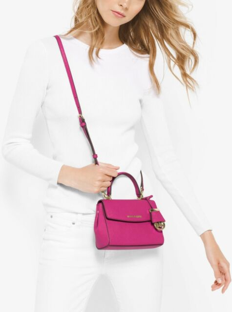 48e331c53e04 Michael Kors Raspberry Saffiano Leather Ava XS Crossbody Purse