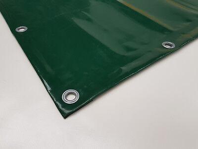 PVC PLANE nach Maß 480g//m² 6m breit - Weiß mit Ösen und Saum RAL9010