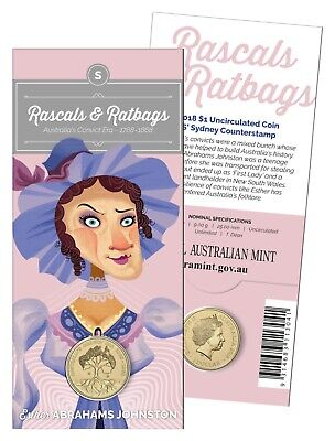 2018 $1 One Dollar 'B' Rascals and Ratbags Uncirculated Coin