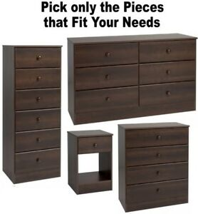 Image Is Loading Espresso Bedroom Furniture Dressers Nightstands Chest Dresser Drawer
