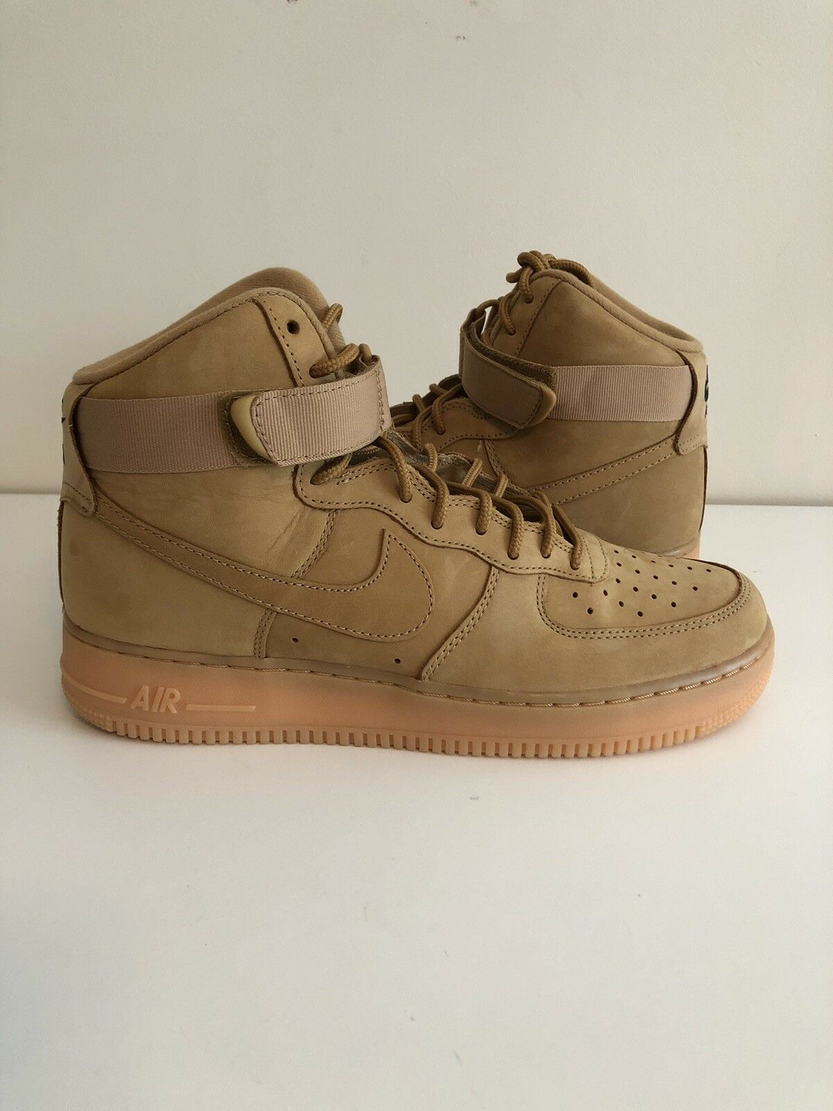Nike Air Force 1 Mid Flax Wheat Size 10 Tan '07  DS