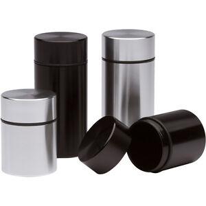 Stash Jar - 4x Combo Airtight Smell Proof Container - Aluminum Herb Stash Jar