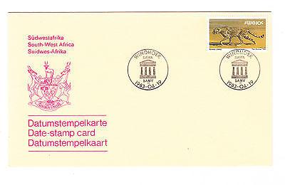 2019 Mode Südwestafrika Fdc Ersttagsbrief Datumsstempelkarte 1983 Tiere (1) Mi.nr.485y