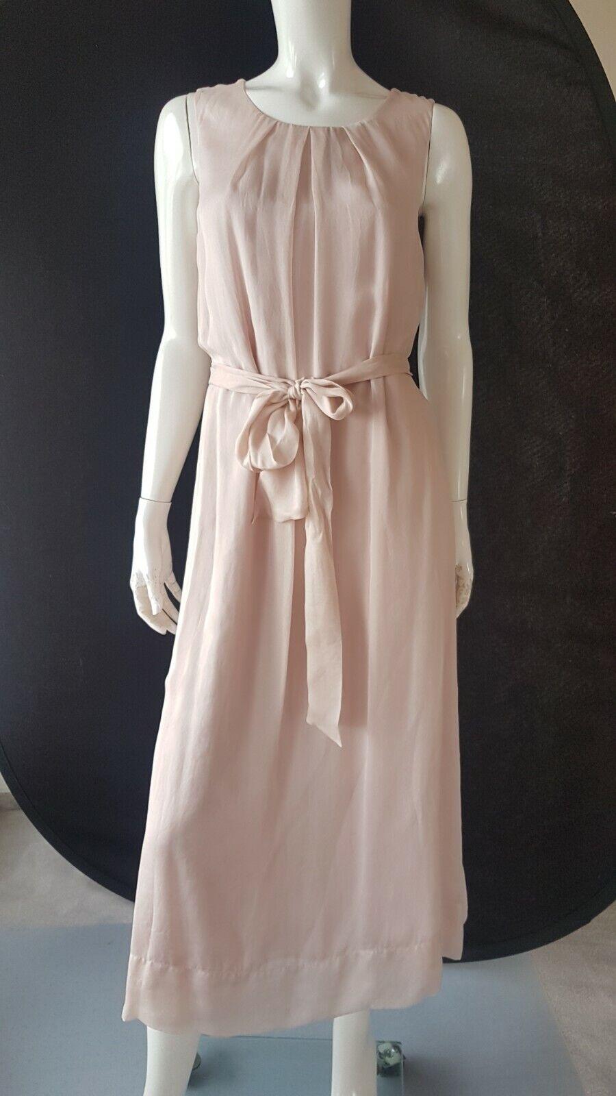 HALLHUBER Kleid Seide zart mit Gürtel Gr.42--UK14***NEU