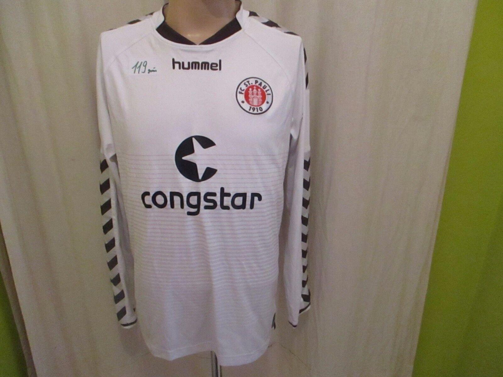 FC hummel St.Pauli hummel FC Auswärts Langarm U16 Matchworn Trikot 2014/15 + Nr.3 Gr.L d2e3ed