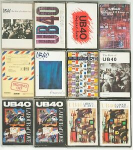 Job-Lot-Of-12-UB40-Cassettes-Tapes-1980s-1990s-Pop-Music-Vintage-Labour-Of-Love