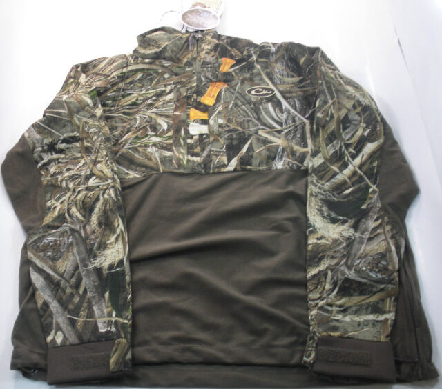 Drake Waterfowl DW2360-015-4 Est Eqwader 2Tone Pullover Max5 Camo X-Large 17667