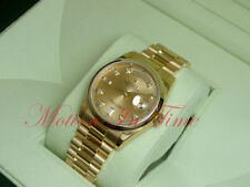 Rolex Day-Date President 18kt Yellow Gold Bezel Champagne Diamond Dial 118238