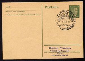 Ganzsache-EISENACH-Cachet-Special-22-07-43-WW2