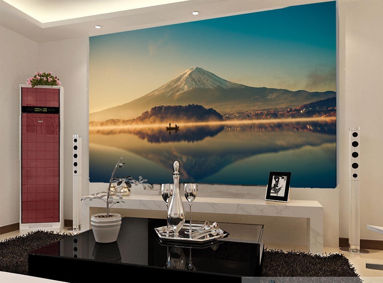 3D Schöne vulkane, SEE 034 Fototapeten Wandbild Fototapete BildTapete Familie DE
