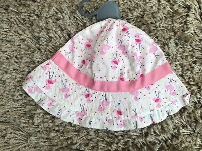 PRIMARK BABY GIRLS PINK FLAMINGO SUN HAT SUMMER HOLIDAY BNWT ALL AGES