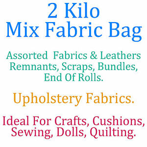 1 KILO bag of fabric remnants-off cuts-Bundle-Craft making projects