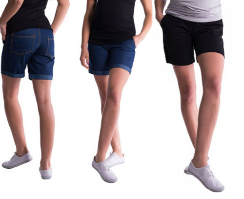3XL Short blau schwarz NEU Sommer Jeans Umstandshose Kurze Hose S
