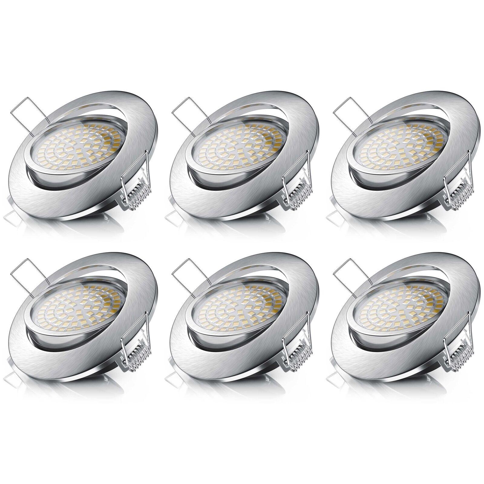6x Brandson LED Einbaustrahler schwenkbardimmbar Einbauleuchte Einbauspot 3,5W     | Shop  | Umweltfreundlich  | Auktion