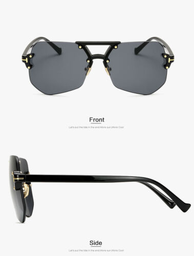 2019 New Fashion Rimless Sunglasses Luxury Brand Designer Men Mirror Sun UV400