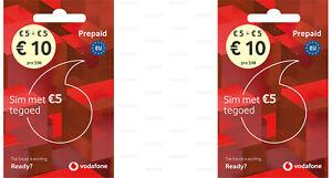 2x SIM-Karte Vodafone NL Guthaben 10 € EU-Roaming ...