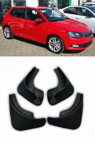 For Skoda Fabia 2015-2017 SET MUD FLAPS MUD SPLASH RUBBER GUARDS FRONT AND REAR
