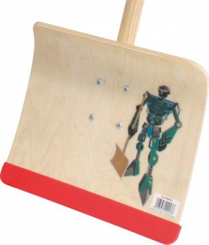 Kinderschneeschieber Holzschneeschieber Schneeschieber Holz 28cm mit Stiel 80cm