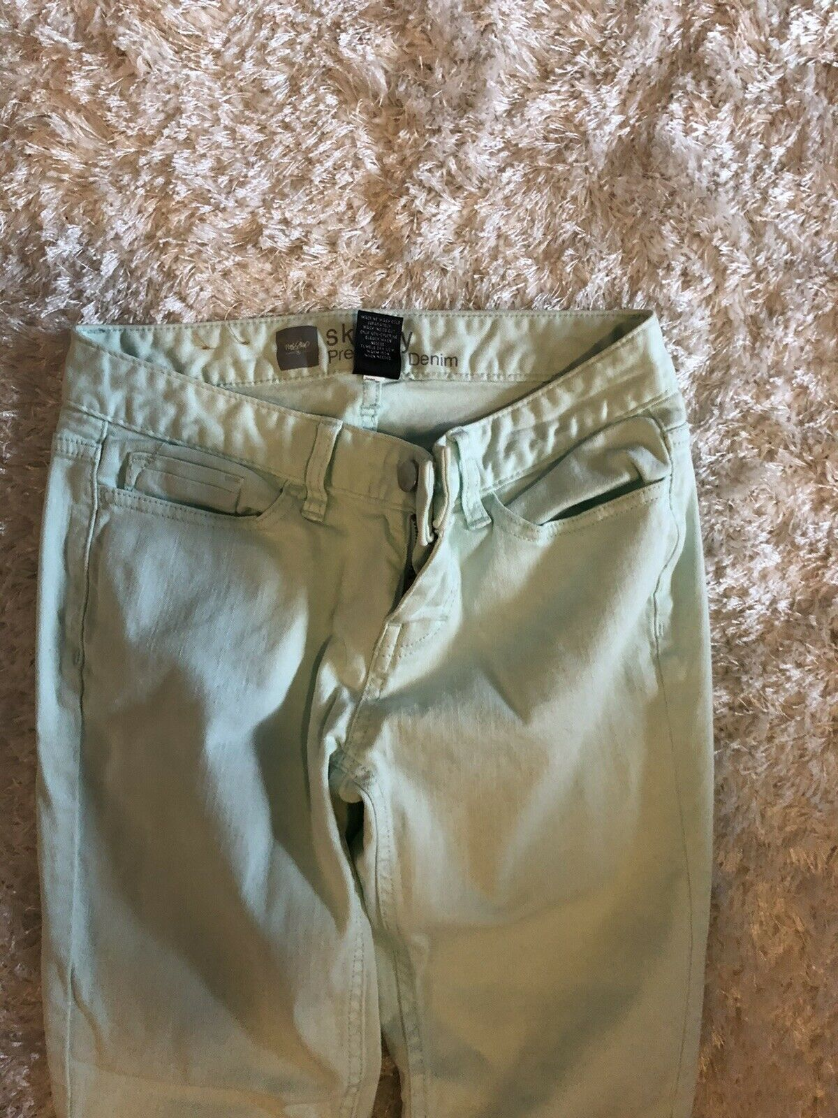 skinny jeans size 2 Mint Green - image 3