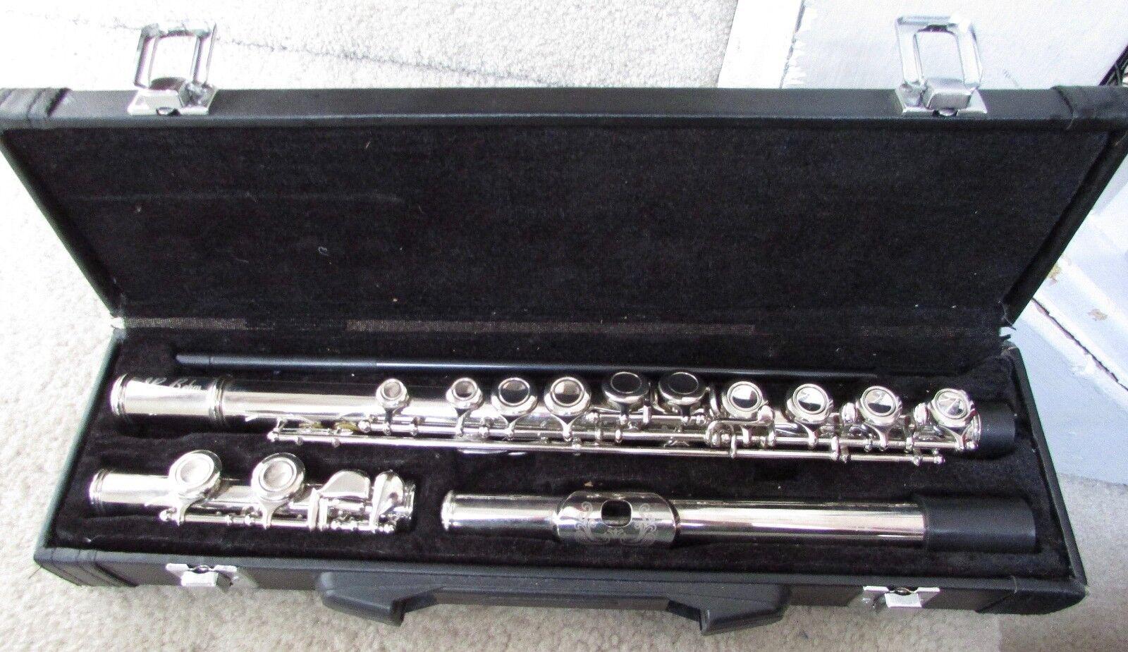 Nuvo Student Flute 2.0 Schwarz Querflöte C-Stimmung vorgezogenes G Kunststoff