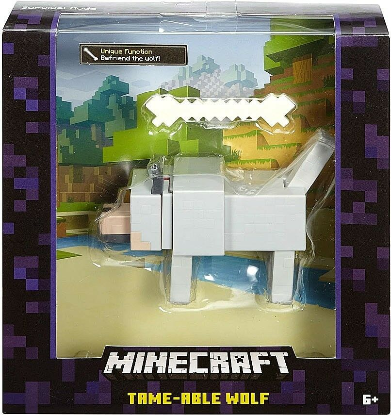 Minecraft Survival Mode Wolf Action Figure Tame-Able