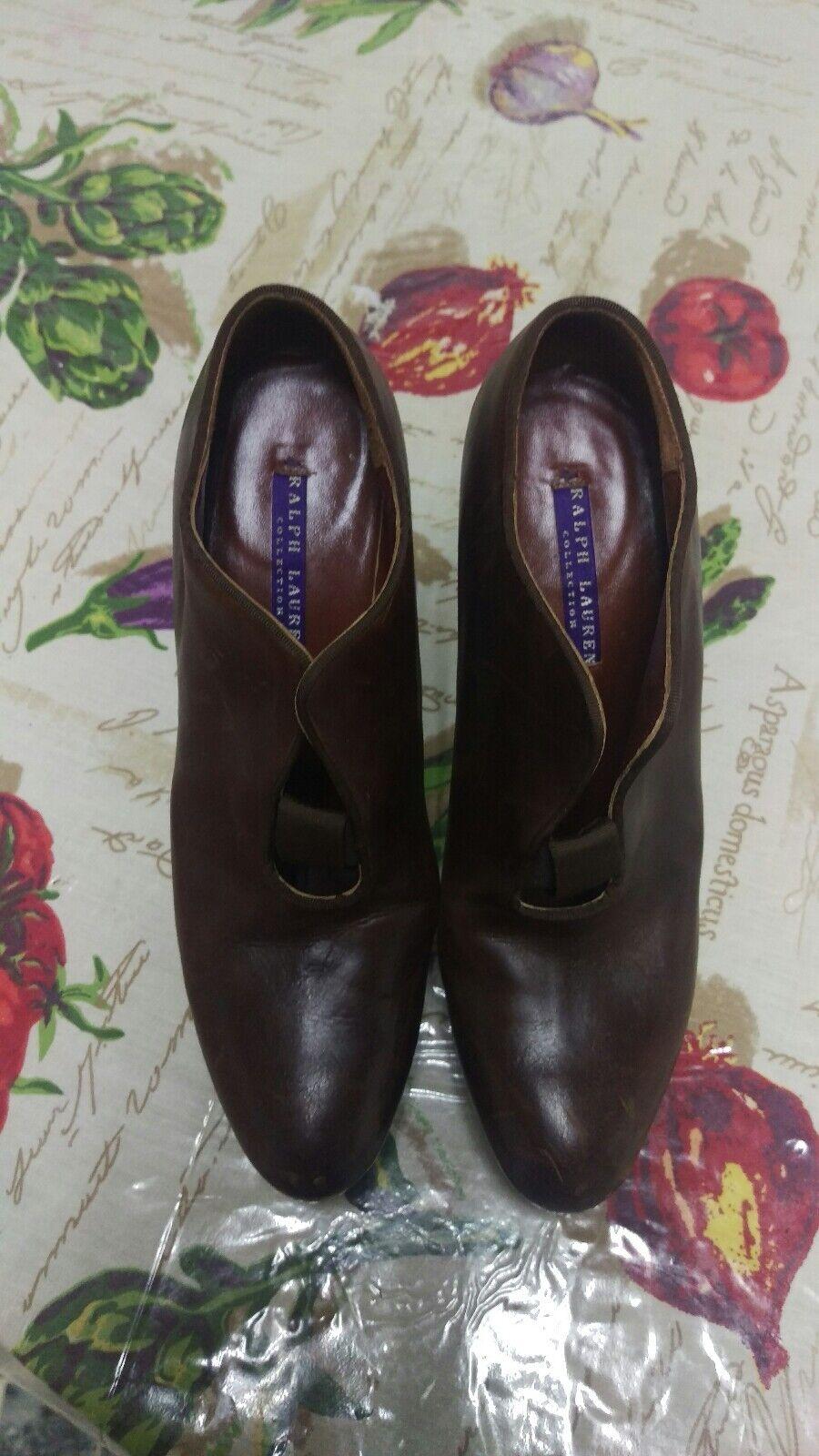 Ralph Lauren Collection Marroneee Oxford Heels Ankle avvioie  7.5 B