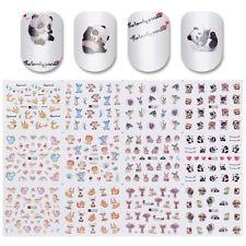 Water Decal 12 Patterns Big Sheet Animal Nail Art Transfer Sticker Manicure Tips