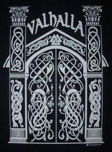 PLAQUE EN METAL  PORTE DE VALHALLA  30 X 20 CM