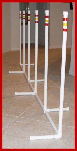 6  NEW STYLE  WEAVE POLES 2 x 2 Dog Agility Equipment
