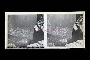 Chamonix France Plaque Stéréo Pos. Vers 1920 Faire Sentir à La Facilité Et éNergique