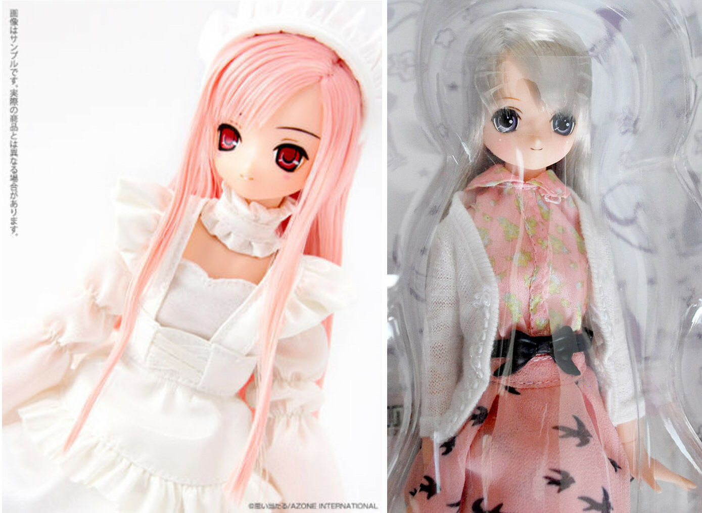 3 x 2 Azone 1 6 Doll Pure neemo ExCute Aika + Himeno -Complete 6 nude + dress -