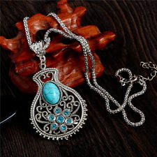 Crystal Turquoise Necklace Boho Body Jewellery Piercing Bohemian Gypsy A158